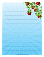 Papier à lettres-Les pommes