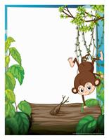 Papier à lettres-Les singes