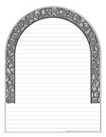 Papier à lettres-Les tunnels