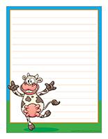Papier à lettres-Les vaches