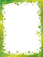 Papier à lettres-Mars en vert