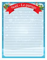 Papier à lettres-Noël-Le-partage