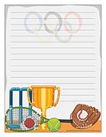 Papier à lettres-Olympiades d'été