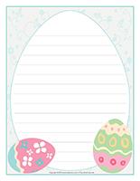 Papier à lettres-Paques-Les tons pastel