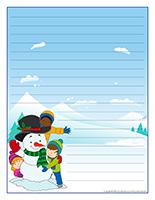 Papier à lettres-Vacances de Noel