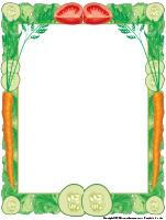Papier à lettres-légumes