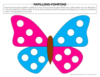 Papillons-pompons