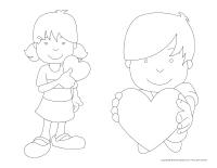 Personnages de la Saint-Valentin magnétiques