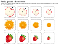 Petit-grand - Les fruits