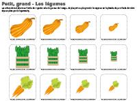 Petit-grand-les légumes