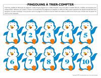 Pingouins à trier compter