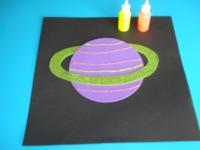 Planète colorée ciel étoilé - 5