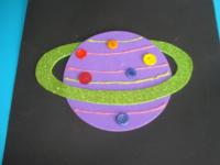 Planète colorée ciel étoilé - 6