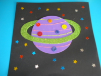 Planète colorée ciel étoilé - 7