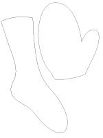 Pochoir - Des pieds et des mains
