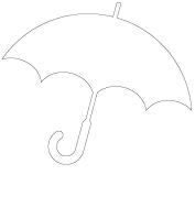 Pochoirs - La pluie
