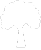 Pochoirs - Les arbres