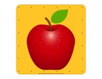 Pommes à enfiler