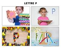 Poni découvre et présente-Lettre P jeux identification activité