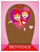 Porte-Les lutins de la Saint-Valentin