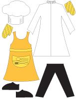 Poupée à habiller - La boulangerie