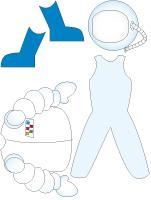 Poupées à habiller - Astronaute