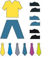 Poupées à habiller - La fêtes des pères