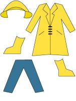 Poupées à habiller - La pluie