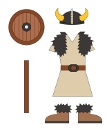 Poupées à habiller - Les Vikings