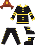 Poupées à habiller - pompier