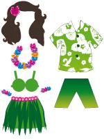 Poupées à habiller-Hawaï