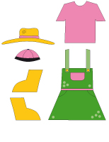 Poupées à habiller-Le fermier et la fermière