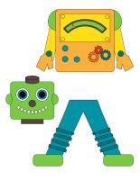 Poupées à habiller-Les robots