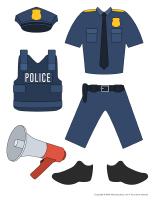 Poupées à habiller-Policiers-Policières