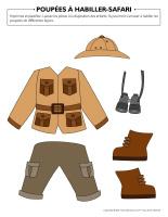 Poupées à habiller-Safari