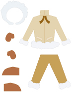 Poupées à habiller-Un Inuit