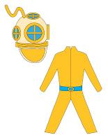 Poupées à habiller-un scaphandrier
