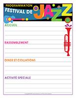 Programmation-Festival de jazz