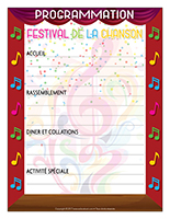 Programmation-Festival de la chanson