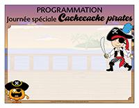 Programmation-Journée spéciale-Cachecache pirates