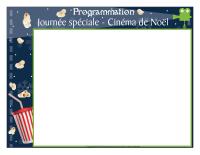 Programmation-Journée spéciale-Cinéma de Noël