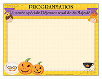 Programmation-Journée spéciale-Déjeuner royal de Sa Majesté