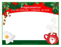 Programmation-Journée spéciale-Déjeuner de Noël