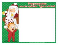 Programmation-Journée spéciale-Pyjama de Noël