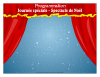 Programmation-Journée spéciale-Spectacle de Noël