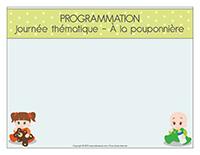 Programmation-Journée thématique-À la pouponnière