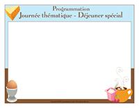 Programmation-Journée thématique-Déjeuner spécial