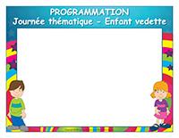Programmation-Journée thématique-Enfant vedette