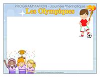Programmation-Journée thématique-Les Olympiques
