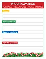 Programmation-Journée thématique-Noël-Le partage